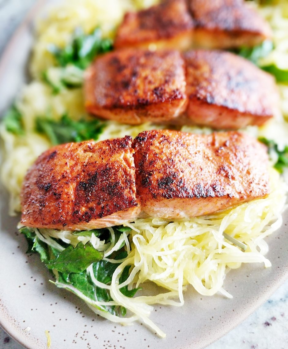 Blackened Salmon And Spaghetti Squash Are A Healthy Tasty Duofresh