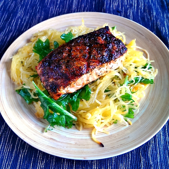 A Great Recipe for Blackened Salmon and Spaghetti Squash ...