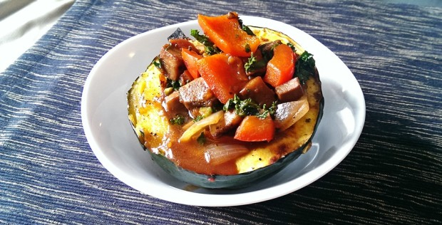 This Italian classic is stuffed into a sweet roasted acorn squash