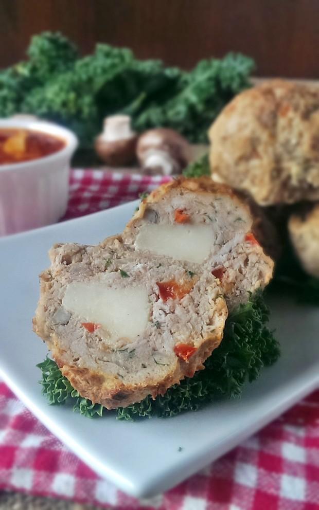 Gluten Free Italian Mozzarella Stuffed Meatballs