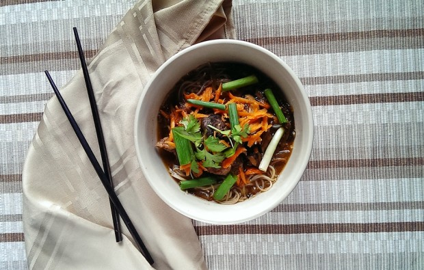This Asian inspired slow cooker recipe is gluten free, and delicious.  It's fresh and healthy too.