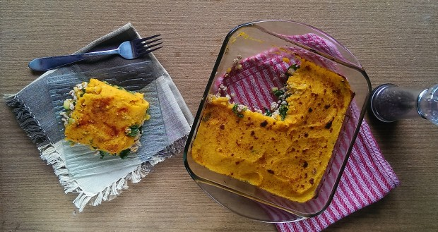 This turkey shepherds pie with butternut squash is a twist on the classic beef version