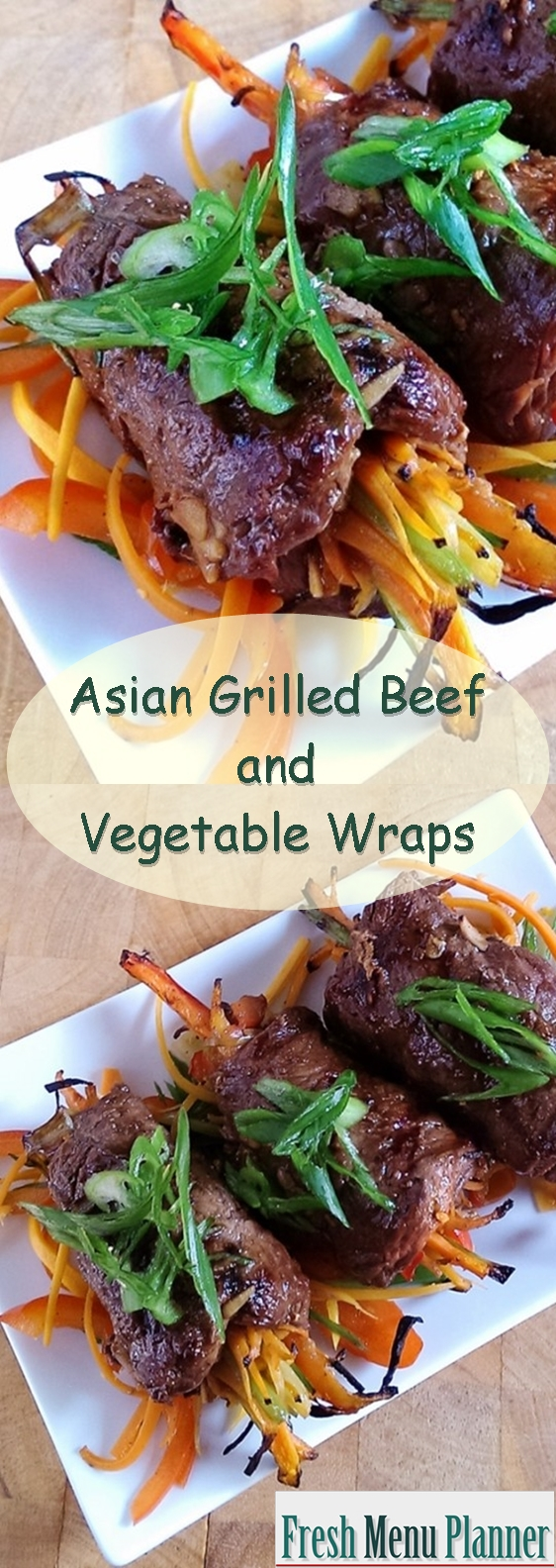 Asian Beef Vegetable Wraps