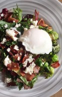 Brussel Sprout Salad with Feta Dill Dressing