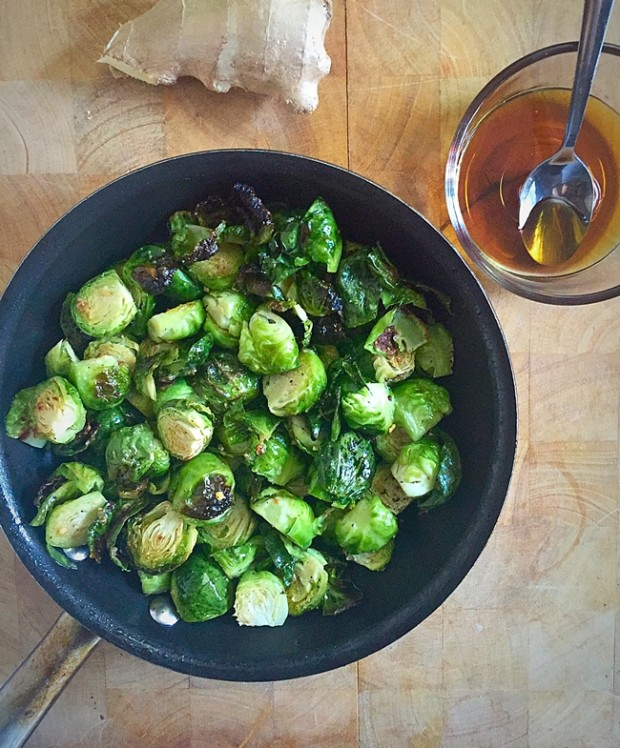 Maple Ginger Brussel Sprouts