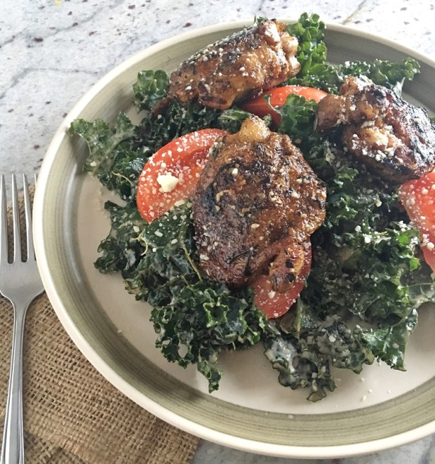 rosemary-balsamic-chicken-thigh-kale-caesar-salad