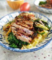 Balsamic Chicken Protein Bowl Spaghetti Squash